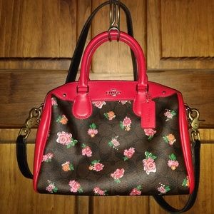 COACH MINI BENNETT HANDBAG PRINT COATED CANVAS